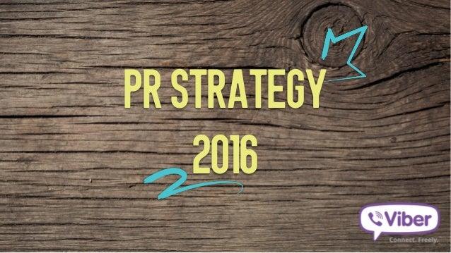 PR STRATEGY 2016
