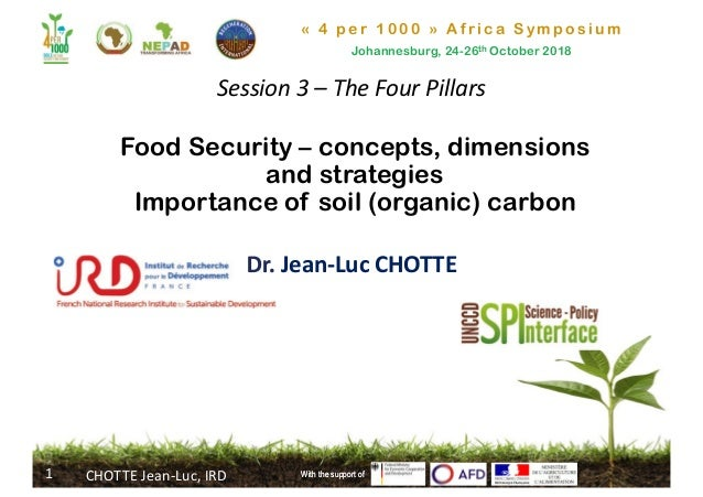 « 4 per 1000 » Africa Symposium Johannesburg, 24-26th October 2018 With the support of Food Security – concepts, dimension...