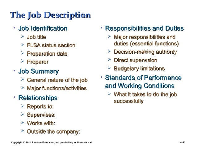 3 job analyisis food preparer job description - Food Preparer Job Description