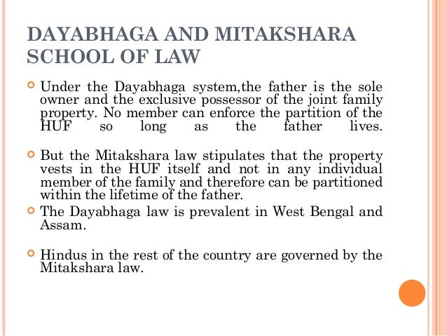 partition under mitakshara law Devolution of interest in coparcenary property-(1) in a joint hindu family governed by the mitakshara law, the daughter of a coparcener shall,-  joint hindu family property under mitakshara.