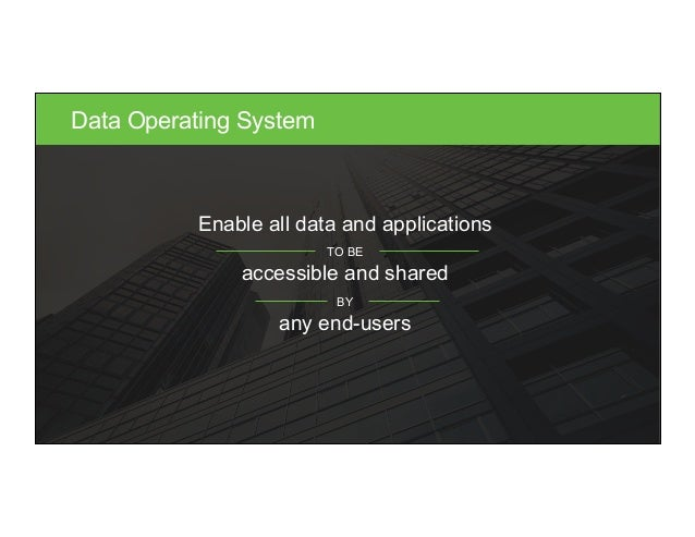 © Hortonworks Inc. 2015. All Rights Reserved Data Operating System Enable all data and applications TO BE accessible and s...