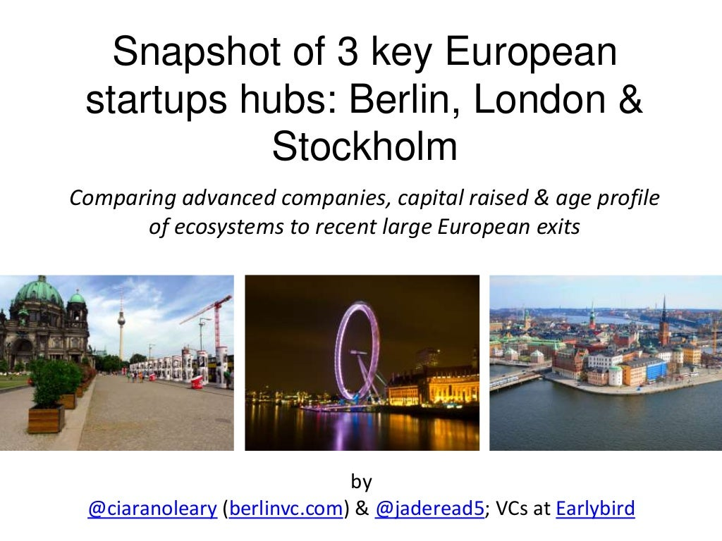 Numbers crunched on 3 key european tech ecosystems