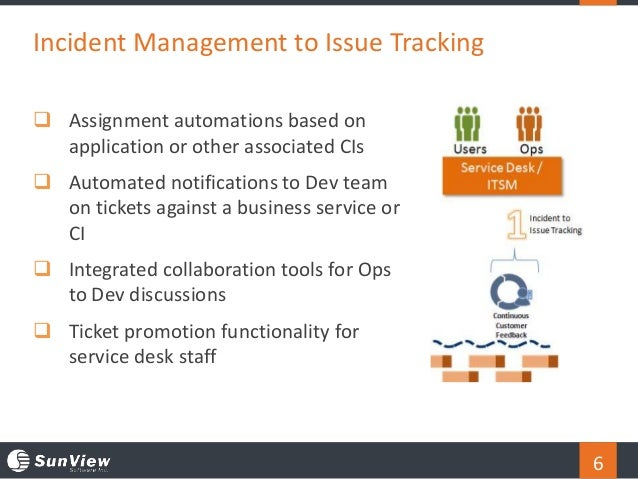 6  Assignment automations based on application or other associated CIs  Automated notifications to Dev team on tickets a...