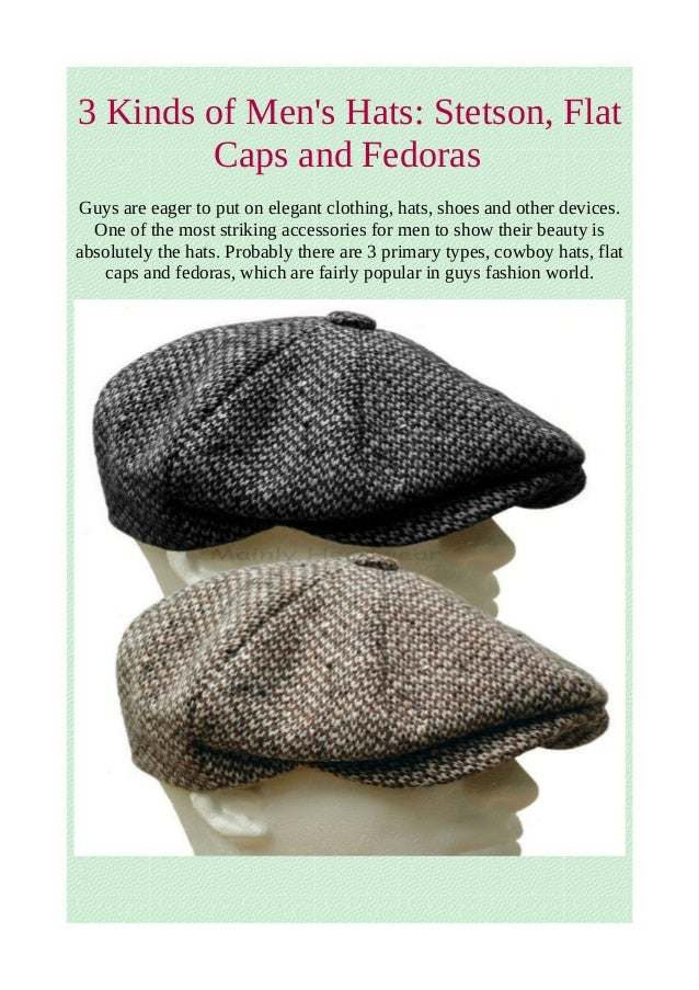 3 kinds of men s hats  stetson 67ecfaa122ca