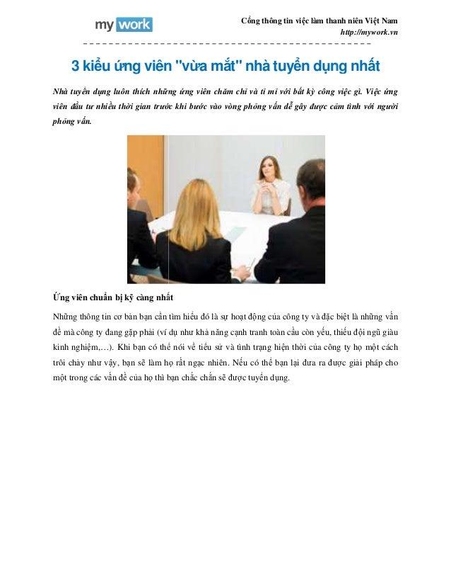 """3 kiểu ứng viên """"v Nhà tuyển dụng luôn thích những viên đầu tư nhiều thời gian trước khi b phỏng vấn. Ứng viên chuẩn bị kỹ..."""