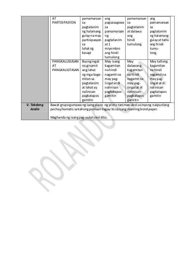 3 K to 12 Lesson Plan in Agriculture 5