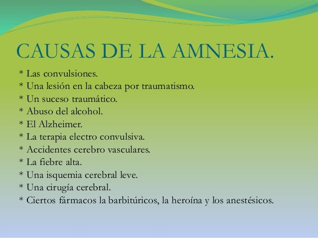 La Amnesia