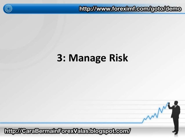 3: Manage Risk