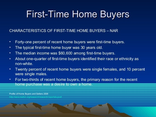 3 latest marketing and selling techniques for First time home buyers plan