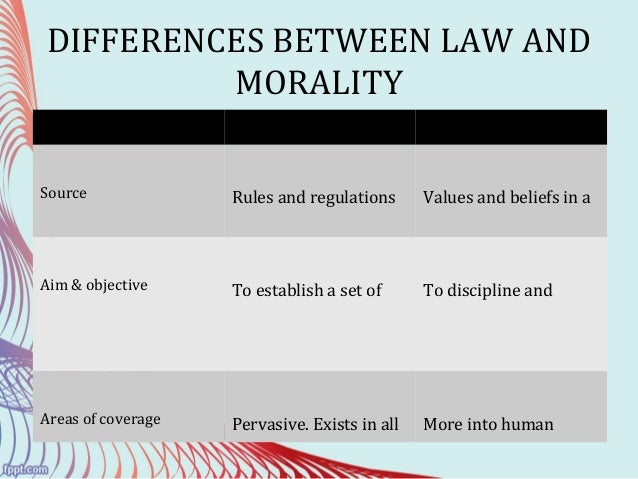 The Moral Differences Between Pro And >> 3 Law And Morality