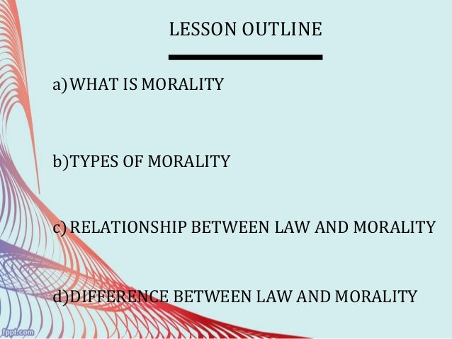 is a necessary conceptual relationship between law and morality