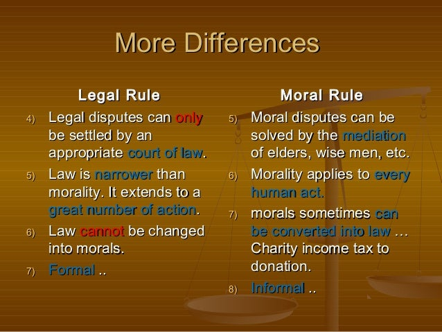 relationship between law and morailty