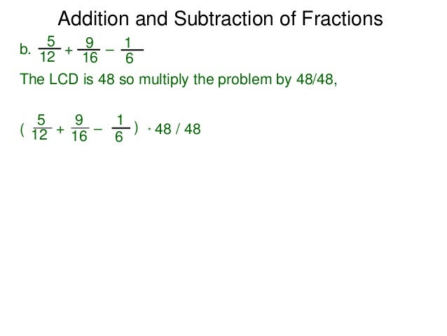 how to get the lcd of 3 fractions