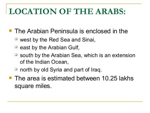 life history of prophet mohammed sas . Arab before birth Slide 3
