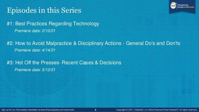 Episode #2: Hot Off the Presses - Recent Cases & Decisions 9