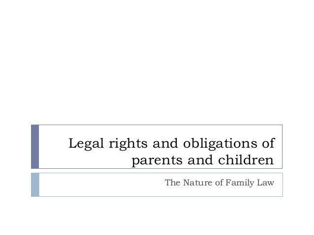Rights and obligations of parents essay