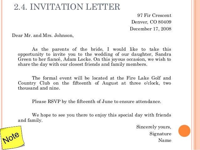 Informal invitation letter sample vatozozdevelopment 3 letter writing stopboris Image collections