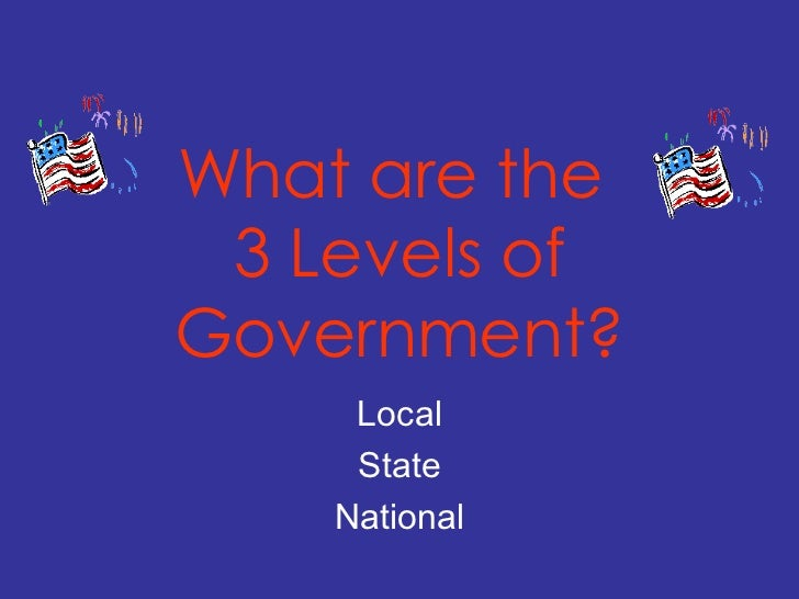 3 levels of government  power point