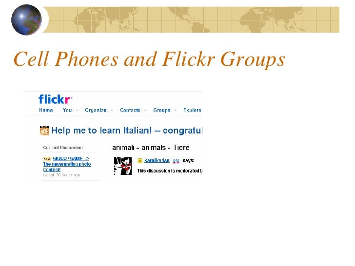 Cell Phones and Flickr Groups