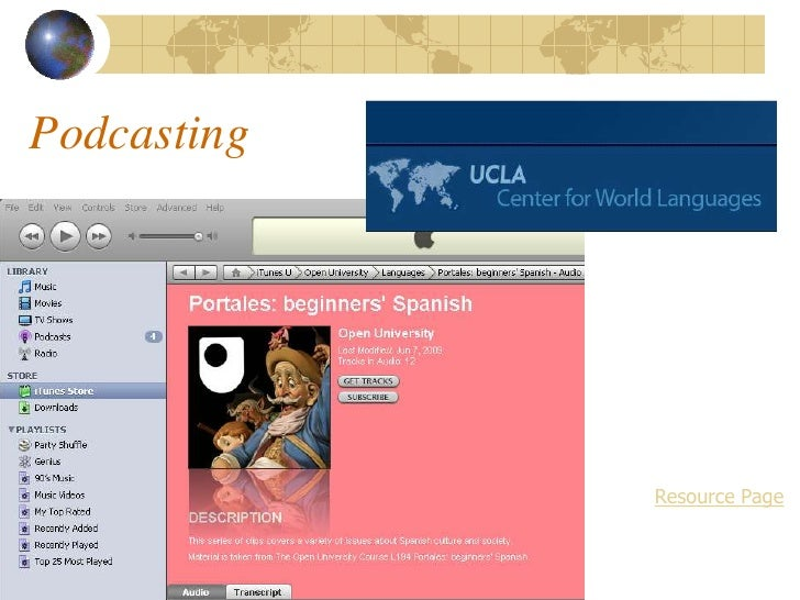Podcasting                  Resource Page