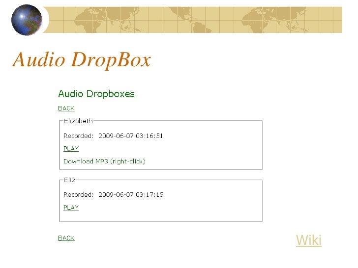 Audio DropBox                     Wiki