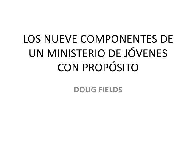 ministerio de jvenes con propsito fields doug