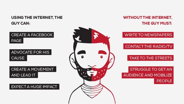 WITHOUT THE INTERNET, THE GUY MUST: WRITE TO NEWSPAPERS CONTACT THE RADIO/TV TAKE TO THE STREETS STRUGGLE TO GET AN AUDIEN...