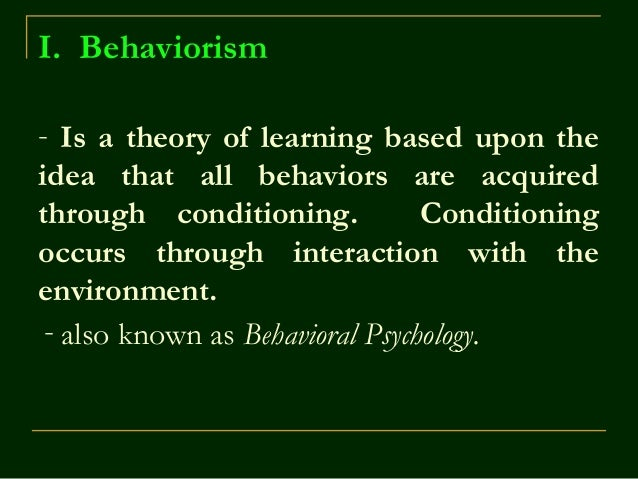 Humanistic theory psychology