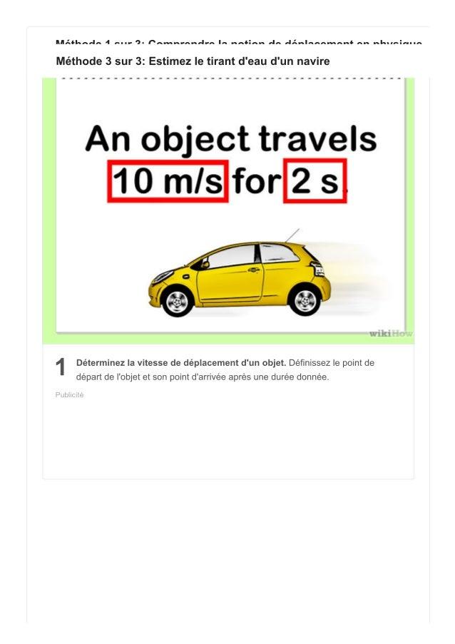 manières de calculer le déplacement
