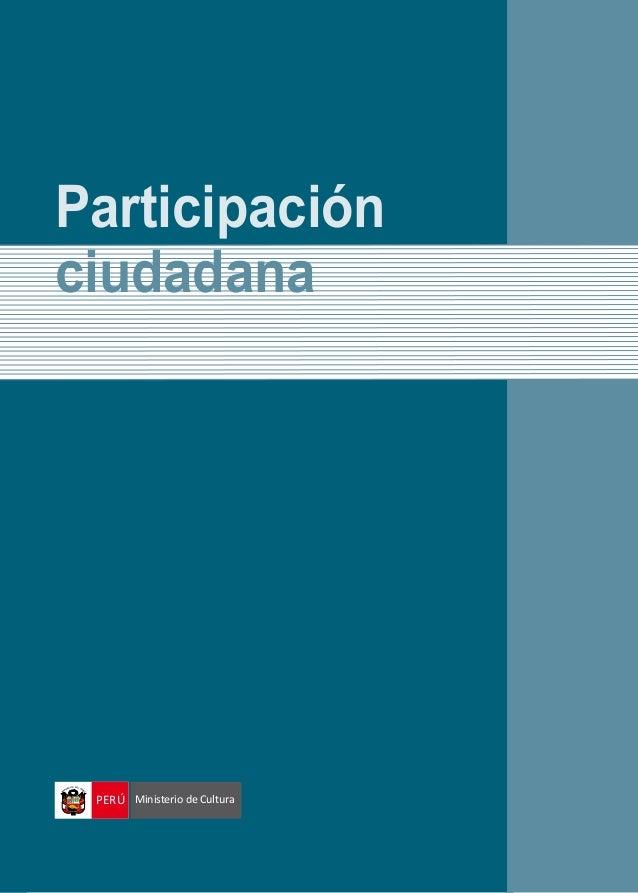 Participación ciudadana PERÚ Ministerio de Cultura