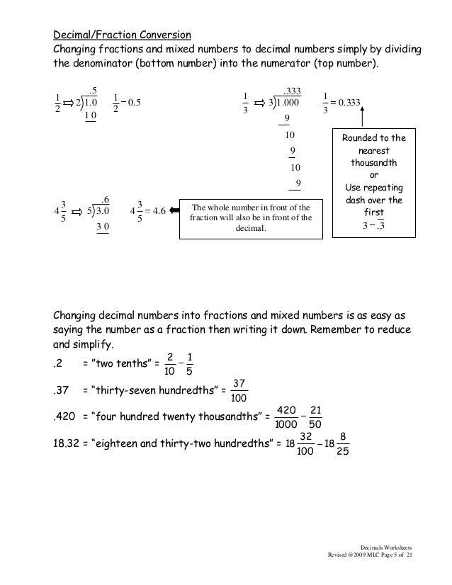 3 Math 550decimalsworksheets2