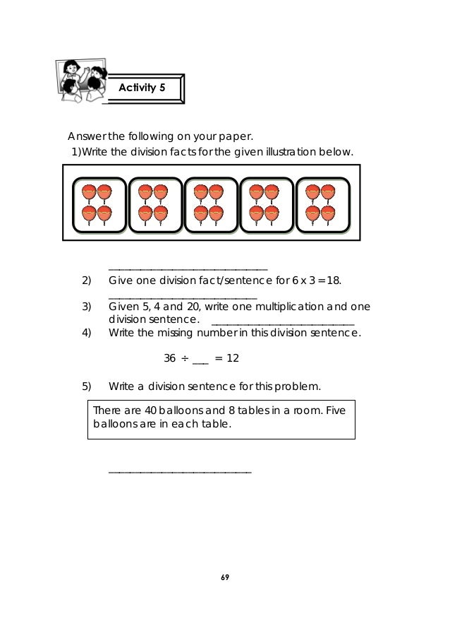 how to write a division word problem