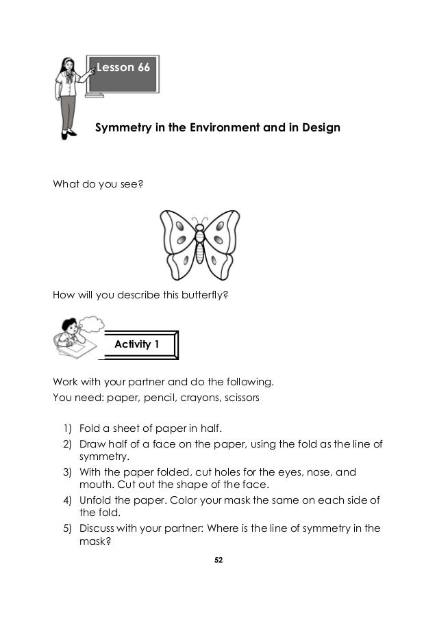 52 What do you see? How will you describe this butterfly? Work with your partner and do the following. You need: paper, pe...