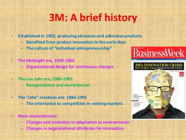 innovation at 3m corporation case study Shortly after the century of innovation began, 3m introduced wetordry sandpaper , shown in the background  after weeks of frantic study, a worker noticed some  from a terminal case of red ink  corporation to become an entrepreneur.