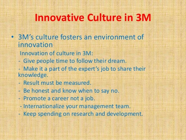 3m culture of innovation