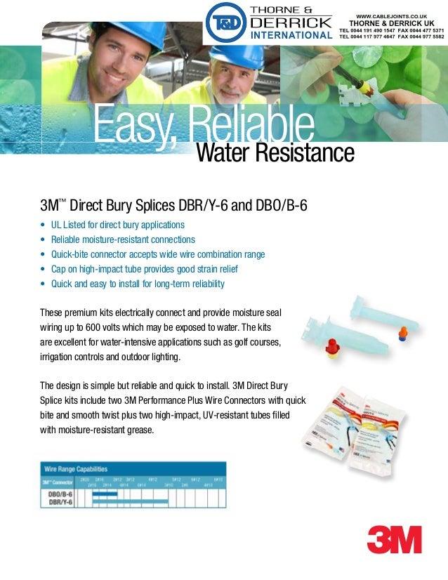 3M Direct Bury Splice Kits DBR/Y-6 and DBO/B-6 - Underground