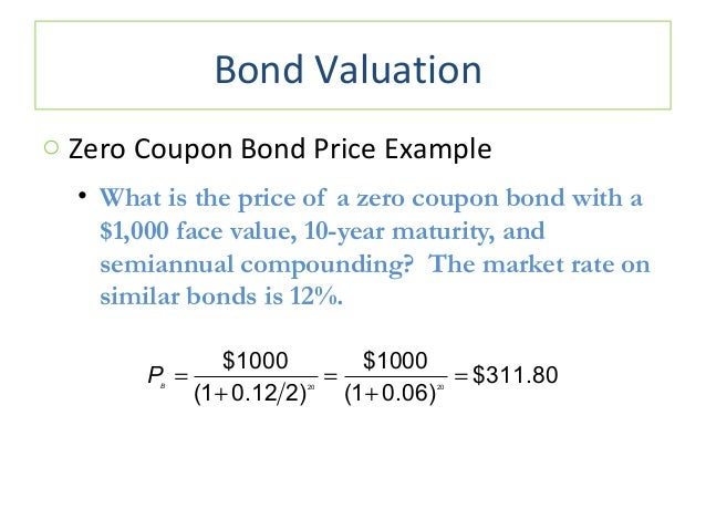zero coupon rate bond calculator