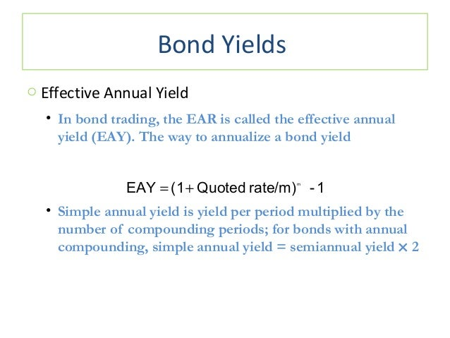 bond and effective annual rate Stated interest rate of a given bond or loan it is also defined as a  the borrower  will pay most financial institutions quote nominal rates on an annual basis.