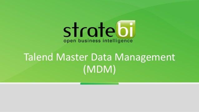 Talend Master Data Management (MDM)