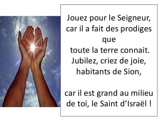 Chante alleluia au Seigneur !