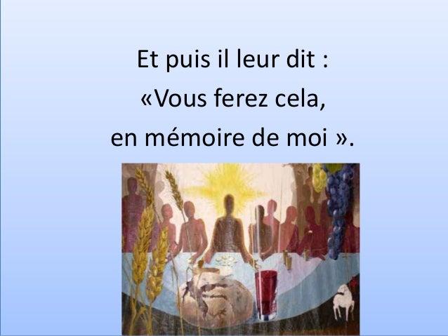 Tu es le pain de chaque jour, Pain qui rassemble tous les hommes ! Tu es le pain de chaque jour, Christ, lumière dans nos ...