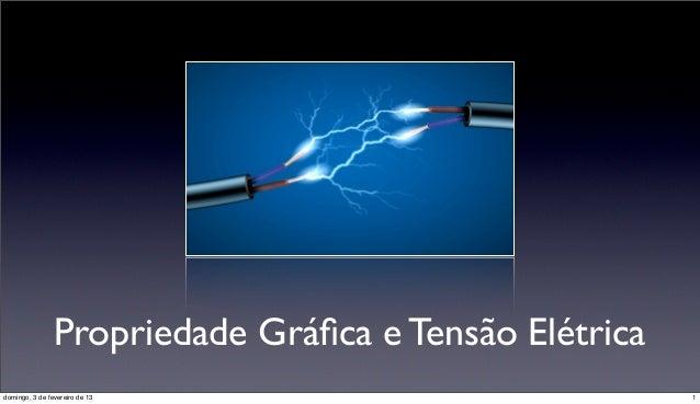 Propriedade Gráfica e Tensão Elétricadomingo, 3 de fevereiro de 13                          1
