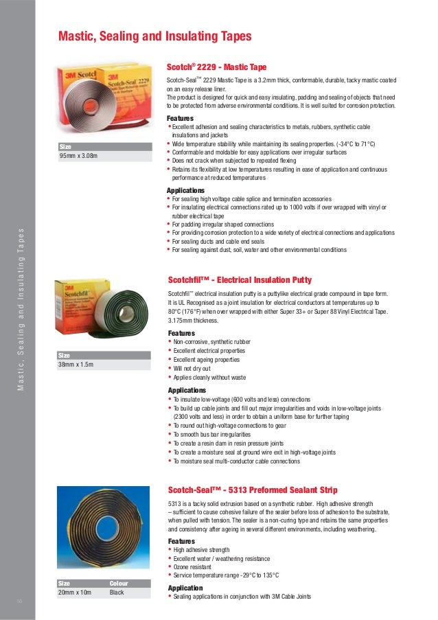 3M Electrical Catalogue - Low & High Voltage Cable