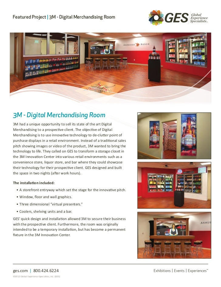 Featured Project   3M - Digital Merchandising Room3M - Digital Merchandising Room3M had a unique opportunity to sell its s...