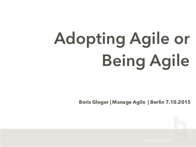 It´s a long way to becoming agile - if you aim for the wrong Slide 2