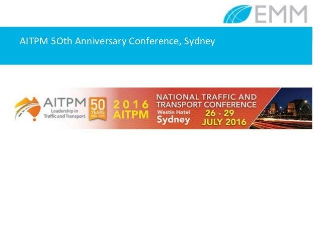 AITPM 5Oth Anniversary Conference, Sydney