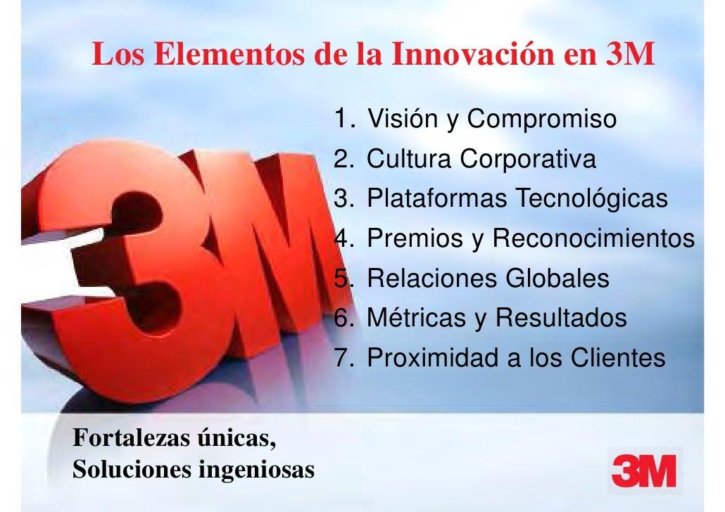 Los Elementos de la Innovación en 3M                                 1. Visión y Compromiso                               ...