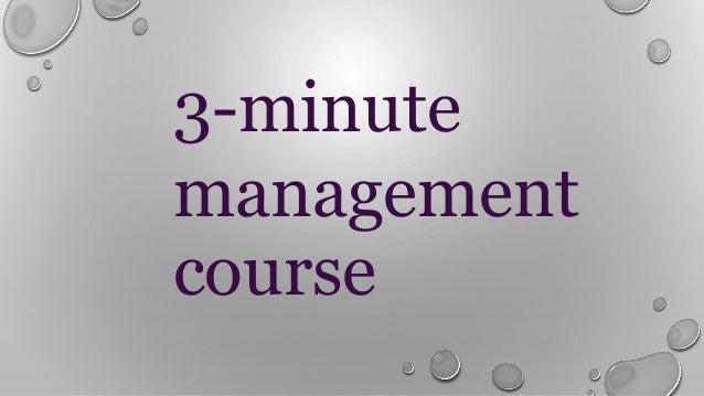 3-minute management course