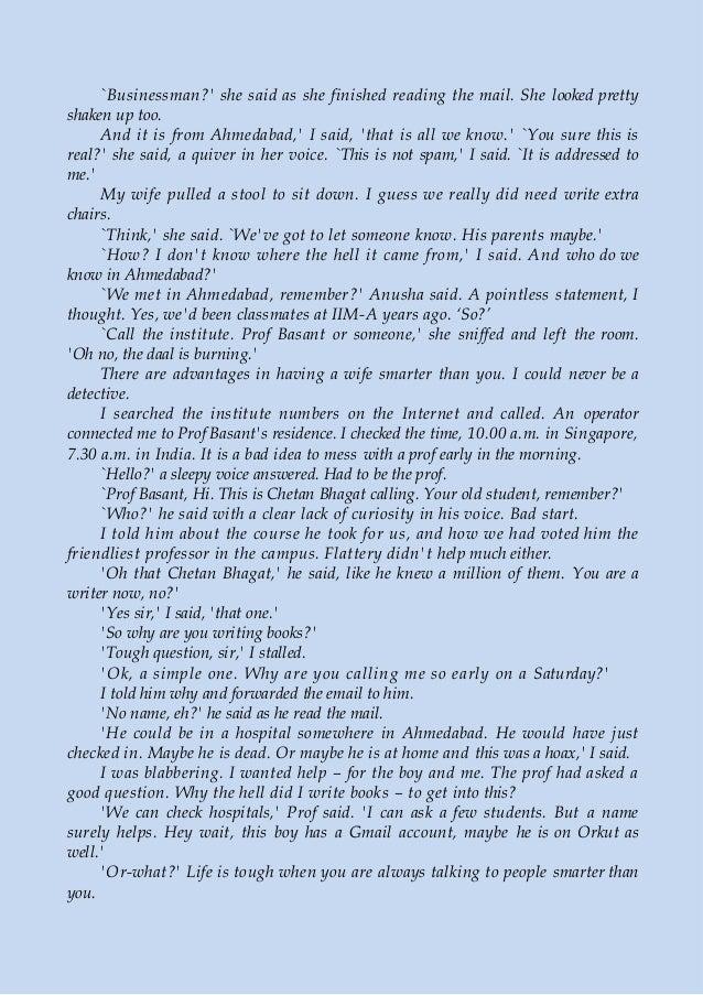 Three Mistakes of My Life Essay Sample