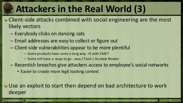 BlueHat 2014 - The Attacker's View of Windows Authentication